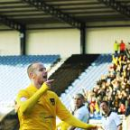 Deane Smalley celebrates a goal for the U's