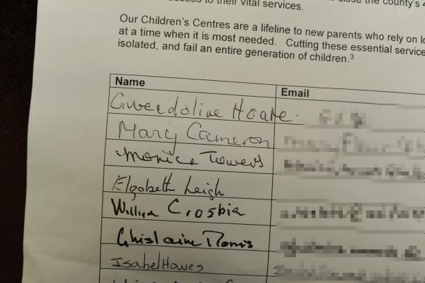 Mother of David Cameron signs petition to save Oxfordshire's children's centres